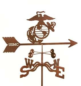 Estados Unidos Marines militar pluviómetro estaca de jardín Weathervane