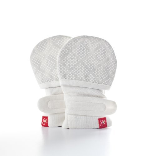 Stay on Newborn Baby Mittens - Organic Cotton/Bamboo Mitts S/M (diamond dots (cream)) Color: diamond dots (cream) GuavKids
