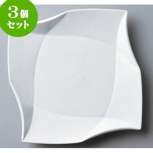 3個セット ボーダーレス 折り紙プレート12吋 [30.3 x 30.3 x 3.8cm] 海外製 洋食器 カフェ レストラン 業務用 ホテル B00RV7XO7G Parent