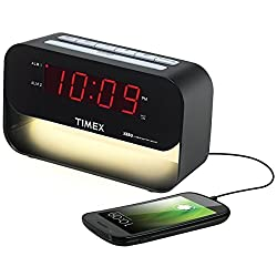 Timex T128 XBBU Dual Alarm Clock with USB Charging and Night Light (Certified Refurbished)