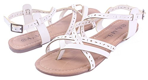 Sandales Talon Blanc Non Shoes Cuir Boucle Femmecouleur Unie Ageemi Pu 8IpqUPwx