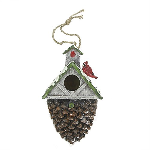 """10.5"""" Rich Elegance Brown and Green Acorn Bird House with..."""