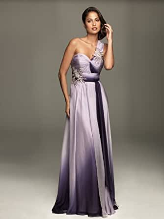 Amazon.com: Allure A319, One Shoulder Beaded Evening Dress