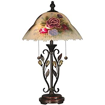 Dale Tiffany Rt60278 Hand Painted Tropical Sun Table Lamp