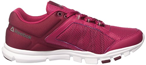 Reebok Bd5550, Zapatillas de Deporte para Mujer Rosa (Manic Cherry /             Rustic Wine /             Wht /             Met Silver /             )