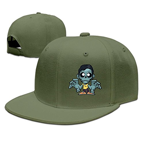 Zomboy Unisex 100% Cotton ForestGreen Adjustable Snapback Baseball Hat One  Size 8d13abef564