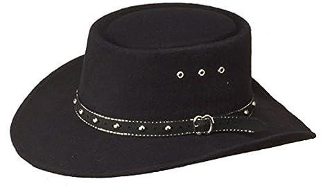 Amazon.com  Western Faux Felt Gambler Cowboy Hat -Black L XL by ... e30c060afba