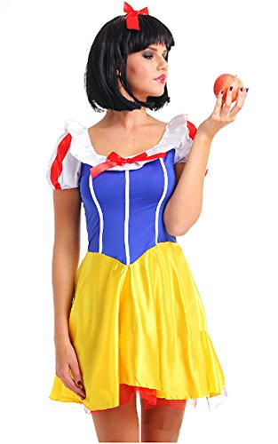 [Cohaco Women's Fairytale Costume (Snow White Style: M)] (Tinkerbell Fairy Costumes For Women)