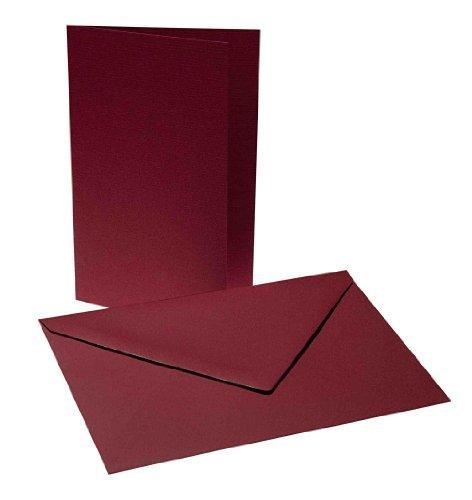 Faltkarten mit Umschlag B6, weinrot (bordeaux)