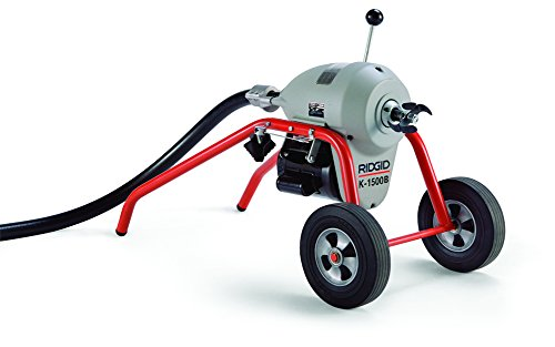 1500 Cable (RIDGID 23712 K-1500A Sectional Machine, A-Frame Sectional Sewer Machine with Easy Plumbing Cable Changes, Drain Cleaning Machine)