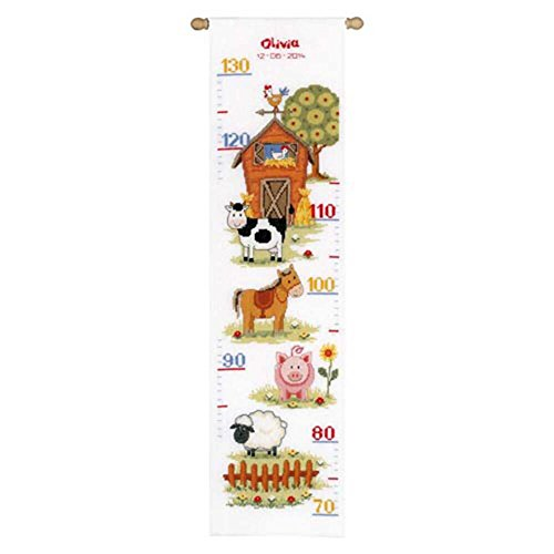 (Vervaco Counted Cross Stitch: Height Chart: At The Farm)