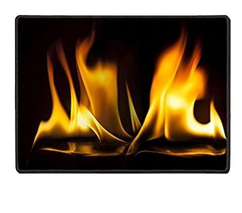 Luxlady Placemat fire red abstract background IMAGE 19623443 Customized Art Home Kitchen (Fireplace Wallpaper)