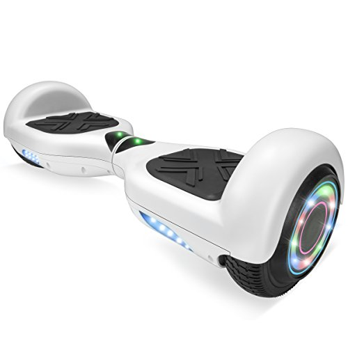 XtremepowerUS 6.5' Self Balancing Hoverboard Scooter w/ Bluetooth Speaker (Matte White)