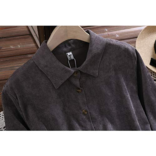 Mallty Donna Size T color Gray shirt Da Velluto Puro Lunghe A In Maniche Coste S Brown rrvxqwOd1