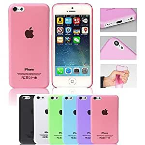 LIMME ships in 48 hours Ultrathin 0.3mm Colorful Scrub PP Case for iPhone 5C(Assorted Color) , Rose