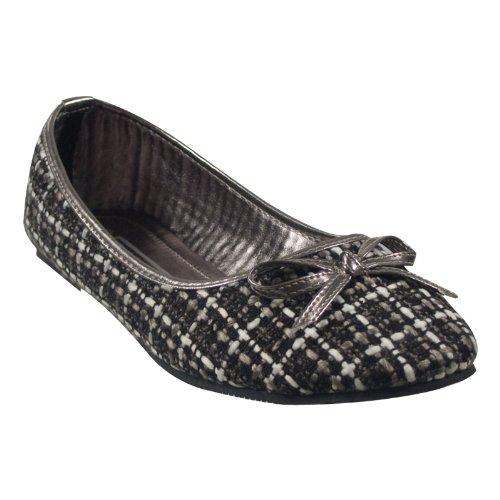 Lemotion 32749-901 Damen Schuhe Premium Qualität Ballerina Schwarz (Schwarz)