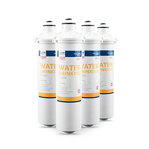 H54 Drinking Water - Clear Choice Drinking Water Filtration System Replacement Cartridge for Everpure 2-HL EV9592-01 EV9720-06 H-54 S-54 Also Compatible with Nu Calgon 9618-07 9619-06, BevGuard BGE-3200, 4-Pack