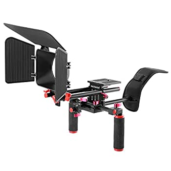 Neewer Camera Movie Video Making Rig System Film-maker Kit For Canon Nikon Sony & Other Dslr Cameras, Dv Camcorders,includes: Shoulder Mount, Standard 15mm Rail Rod System, Matte Box (Red & Black) 0
