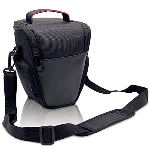 FOSOTO DSLR Camera Case Nylon Holster Bag Compatible for Nikon D3300 D3400 D3500 D5300 D5600 B700,Canon EOS Rebel XT XTi T6 T5i T3i SL2 1300D,Pentax,Sony Olympus and More - ()