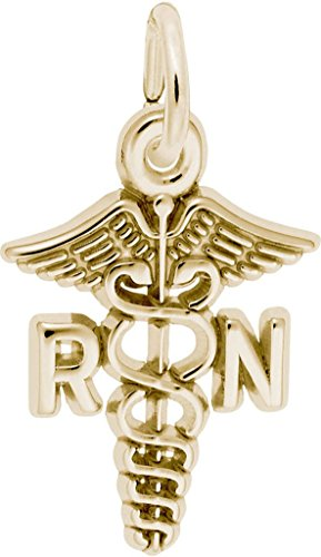 Rembrandt RN Caduceus Charm - Metal - 14K Yellow Gold