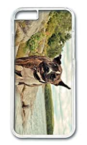 MOKSHOP Adorable dog shaking head Hard Case Protective Shell Cell Phone Cover For Apple Iphone 6 Plus (5.5 Inch) - PC Transparent