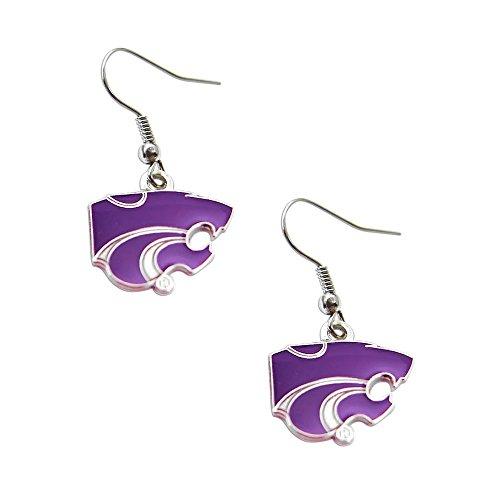 - Kansas State Wildcats Sports Team Logo Dangle Earring Set NCAA Charm Gift