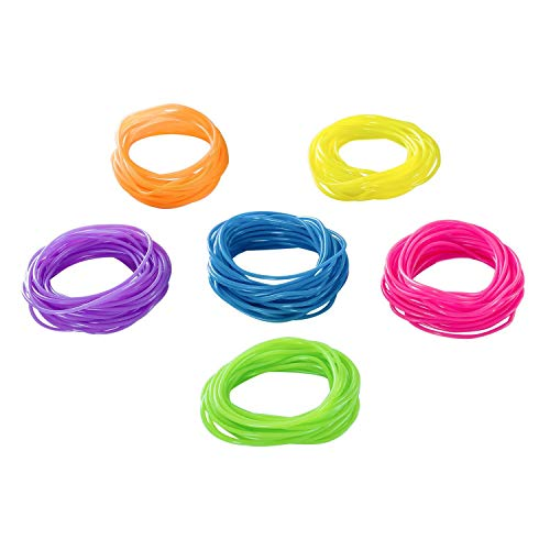Tytroy Neon Rainbow Assorted Color Jelly Bracelets Birthday Party Favors Gifts - 144 Piece - (144) -