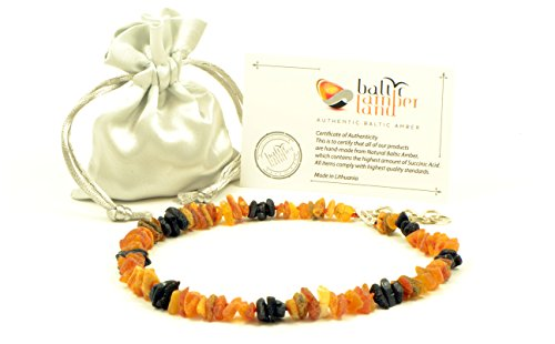 Baltischer Bernstein Pet Halsband mit Verstellbarem Trageriemen, 20–65 cm, Natur Floh und Schutz, unpoliert Baltischer Bernstein Perlen …