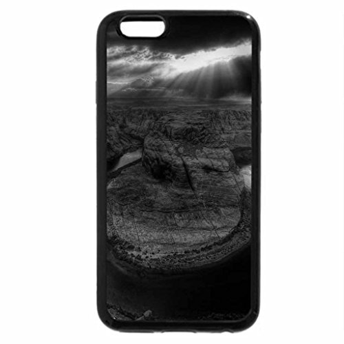 iPhone 6S Plus Case, iPhone 6 Plus Case (Black & White) - Cloudy Snake River