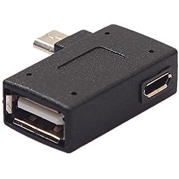 Left+Right Angled Micro USB 2.0 OTG Host Adapter wit CERRXIAN Lemeng 90 Degree