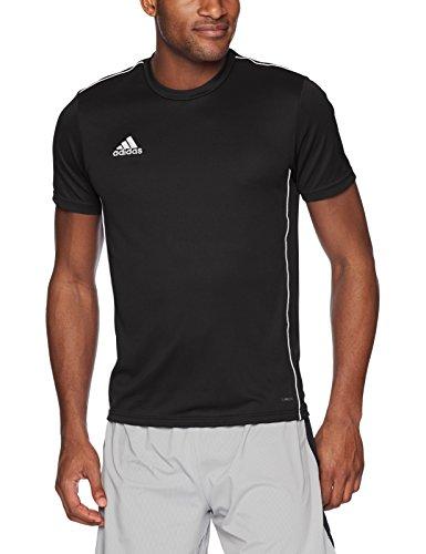 adidas Men's Soccer Core18 Training Jersey, Black/White, X-Large