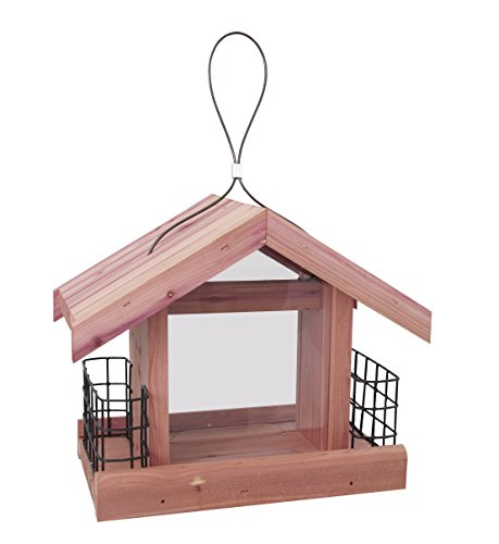 Pennington Cedar Chalet Bird Feeder with Suet Cages Amish Made in the USA