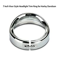 7 Inch Black Motorcycle Headlight Trim Ring for Harley Davidson 12-14 FLD 94-14 FLHR 86-14-FLST