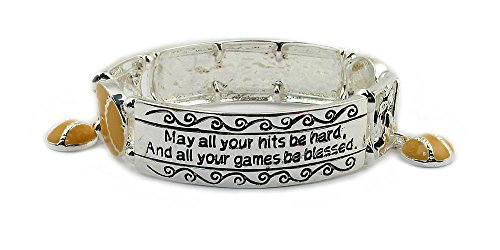Softball Bracelet: #1 Top Selling Gift for Softball Player, Coach and Team. Why Purchase Another Softball Trophy?