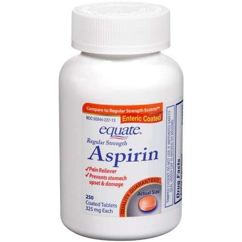 Amazon.com: Equate - Aspirin 325 mg, Regular Strength, 250 Tablets ...