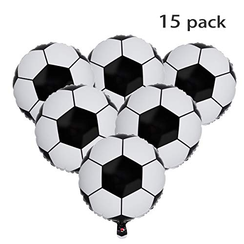 - SBYURE 15 Pack Soccer Balloons Aluminum Foil Balloon Mylar Balloons 18 Inch for Football Party Supplies Birthday Party Decoration