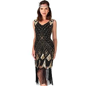 Women's Cocktail 1920s Dresses – Gatsby Sequin Art Deco Flapper Dress