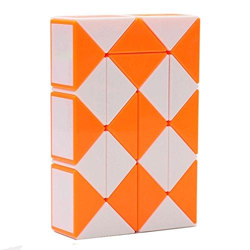 [해외]HJXD globle MZStech Magic Snake Twist Puzzle Twisty Toy Collection 24 Wedges Magic Ruler Orange / HJXD globle MZStech Magic Snake Twist Puzzle Twisty Toy Collection 24 Wedges Magic Ruler Orange