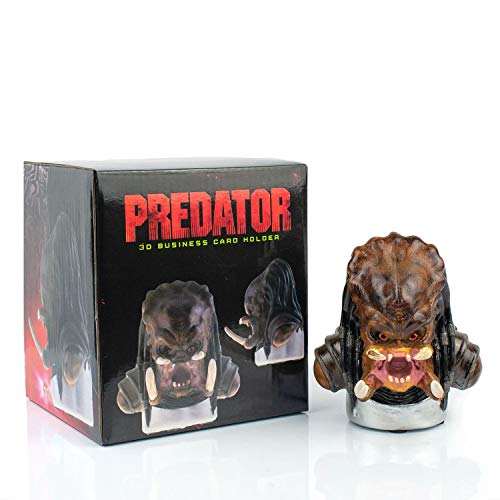 - Predator Official Themed Business Card Holder | Detailed Head | 3D Molded Desk Top Card Stand | 4.5