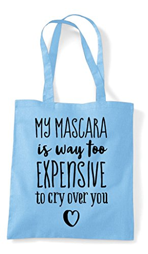Tote Statement Bag You My Sky Expensive Over To Is Way Shopper Blue Mascara Cry Too xZqvU