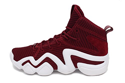 Adidas Mens Crazy 8 Adv Pk Scarpe Da Basket Core Bordeaux / Calzature Bianche