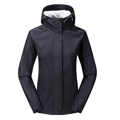 Dog Raincoats Coats - Diamond Candy Waterproof Women's Rain Jacket Single Layer Outdoor Coat with Hood & Zippered Underarm Venting
