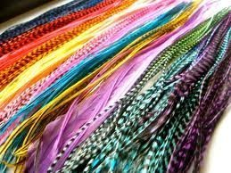 (60) 7''-10'' Individual Vivid Color Grizzly & Solid Feathers with 40 Beads by SEXY SPARKLES (Image #3)