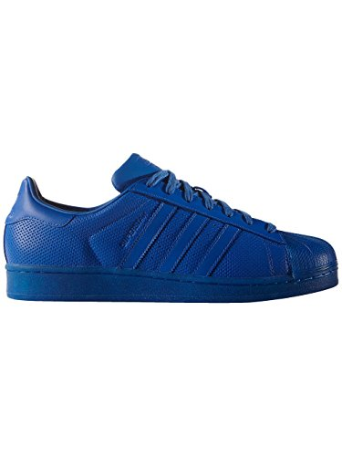 adidas-originals-superstar-mens-trainers-sneakers-shoes-us-95-Blue-S80327