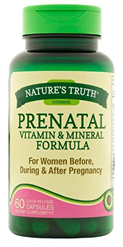 Nature's Truth Prenatal Vitamin and Mineral Formula Capsules, 60 Count