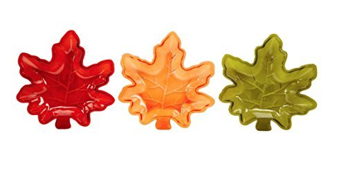 3 Pack of Fall Autumn Leaf Candy Dishes (Small Dish Leaf)