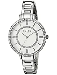 SO & CO New York Women's 5066.1 SoHo Analog Display Quartz Silver Watch