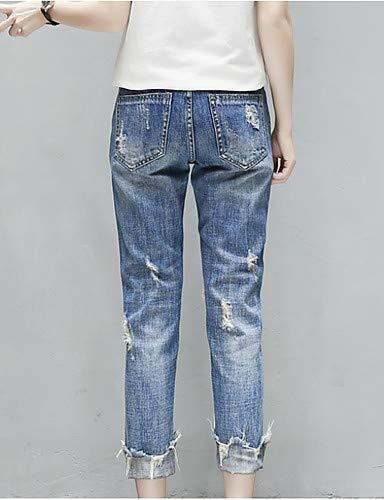 Slim Jean Pantalon YFLTZ Blue Femme pour en uni 5SHtwxRqUW
