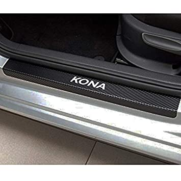 Car Styling For Kona Door Sill Accessories Stainless Steel Door Sill Protectors Car Stickers
