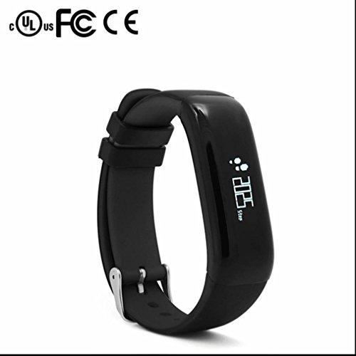 Smart Bracelet Fitness tracker Smartband Activity tracker Bracelet connecté,Pisteur fitness,Compteur de Calories,Heart Rate Sensor,Silence/vibrations,Mesure de vitesse,pour téléphone smartphone Android